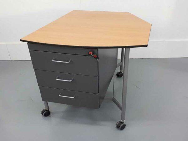 Mesas de oficina mesa auxiliar con cajones