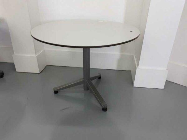 Mesas de oficina mesa redonda gris