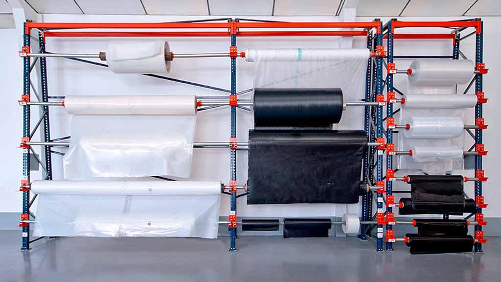 estanterías para bobinas portabobinas