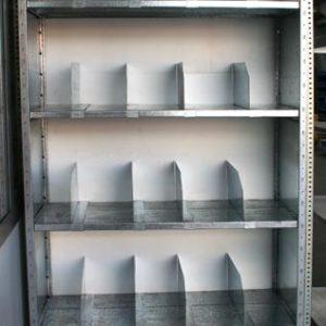 estanterías galvanizada con separadores estanterías de ocasión