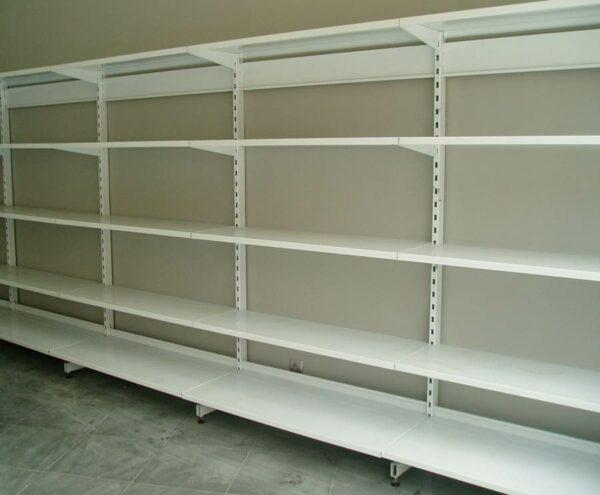 estanteria metálica mural blanca