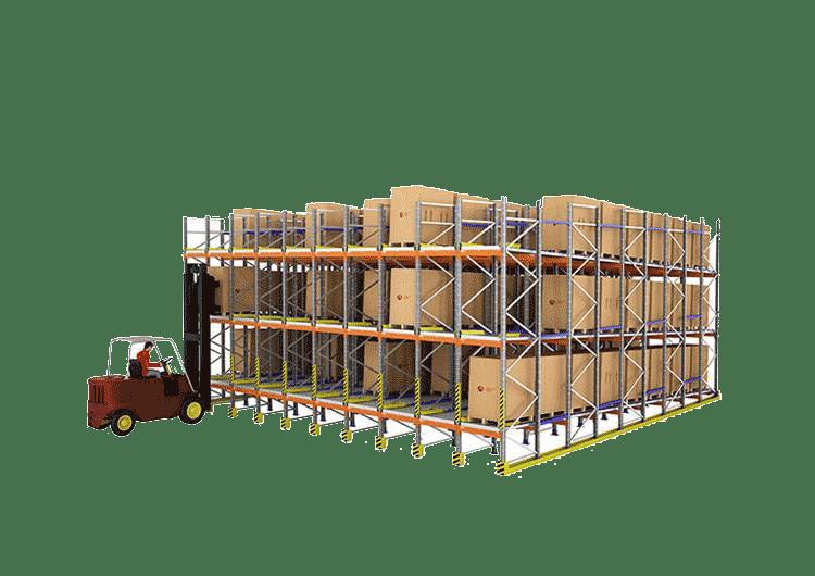 Estanterías de Ocasión estanterías metálicas Carga de palets en estantería dinamica