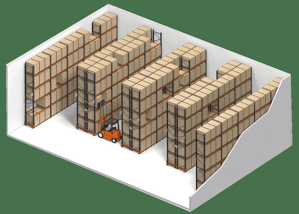 Estanterias para palets Sistema convencional Organización almacén